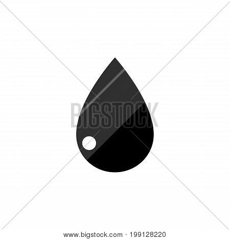 Droplet Vector Element Can Be Used For Liquid, Drop, Droplet Design Concept.  Isolated Liquid Drop Flat Icon.