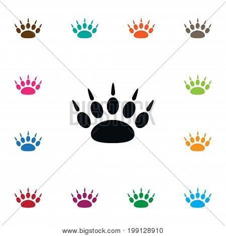 Claw Vector Element Can Be Used For Paw, Footprint, Claw Design Concept.  Isolated Paw Icon.