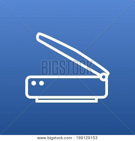 Vector Scanner Element In Trendy Style.  Isolated Photocopy Outline Symbol On Clean Background.
