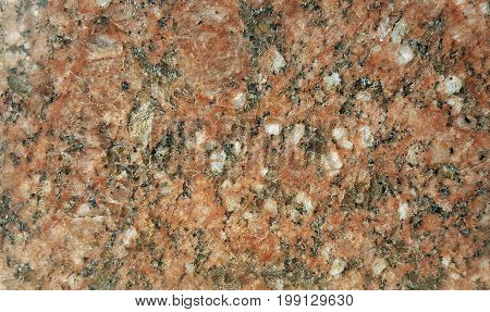 Texture of granite background. Granite Texture Red Base with Black and Gray Spots