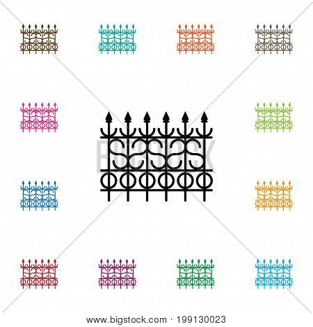 Lattice Vector Element Can Be Used For Lattice, Fence, Gate Design Concept.  Isolated Gate Icon.