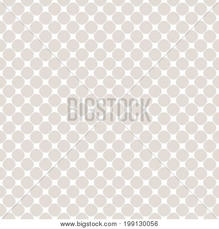 Mesh pattern with small circles. Polka dot texture. Simple geometric seamless background in soft pastel colors white & beige. Design pattern, textile pattern, covers pattern, digital pattern, web pattern, decor pattern, fabric pattern.