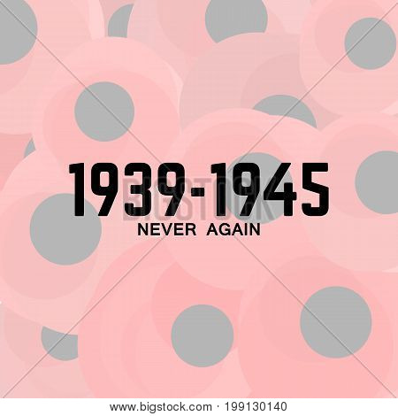 World War II commemorative vector poster illustration
