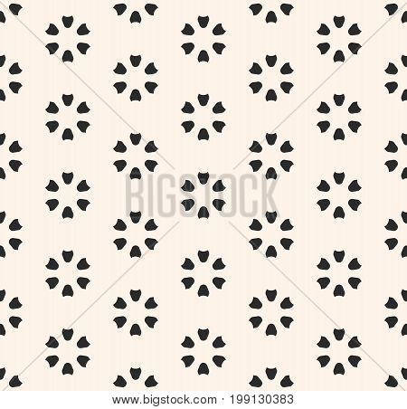 Floral pattern. Abstract floral geometric texture. Simple minimalist background. Perforated surface.  Design pattern, textile pattern, covers pattern, digital pattern, web pattern, decor pattern, fabric pattern.