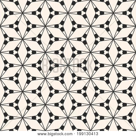 Geometric seamless pattern with triangular shapes, thin lines. Subtle vector geometrical texture. Abstract repeat monochrome background. Design pattern, textile pattern, covers pattern, digital pattern, web pattern, decor pattern, fabric pattern.