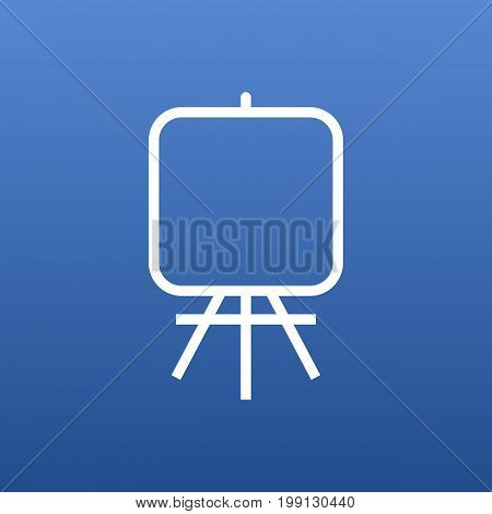 Vector Easel Element In Trendy Style.  Isolated Stand Outline Symbol On Clean Background.