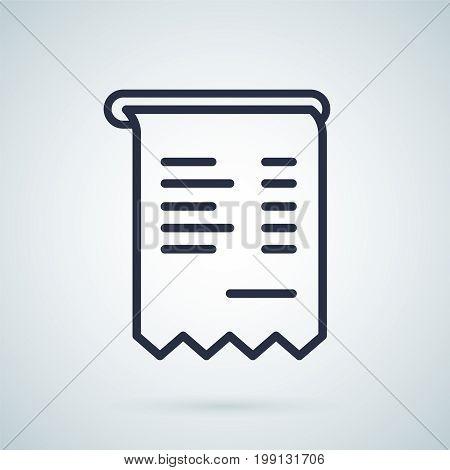 Invoice vector icon illustration symbol. Business icon. Invoice abstract illustration