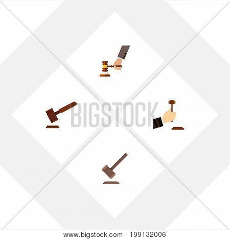 Flat Icon Lawyer Set Of Law, Crime, Justice And Other Vector Objects