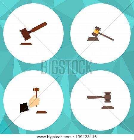 Flat Icon Lawyer Set Of Legal, Law, Justice And Other Vector Objects