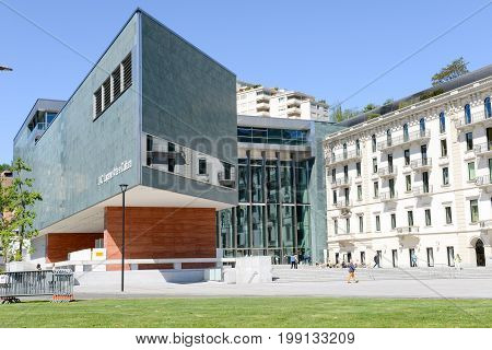Lac Museum At Lugano On The Italian Part Of Switzerland