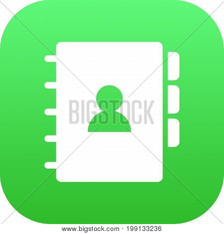Vector Book  Element In Trendy Style.  Isolated Address Icon Symbol On Clean Background.