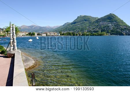The Lakeside Of Lugano