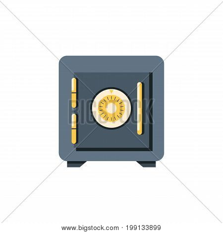Saving Vector Element Can Be Used For Saving, Strongbox, Locked Design Concept.  Isolated Locked Flat Icon.