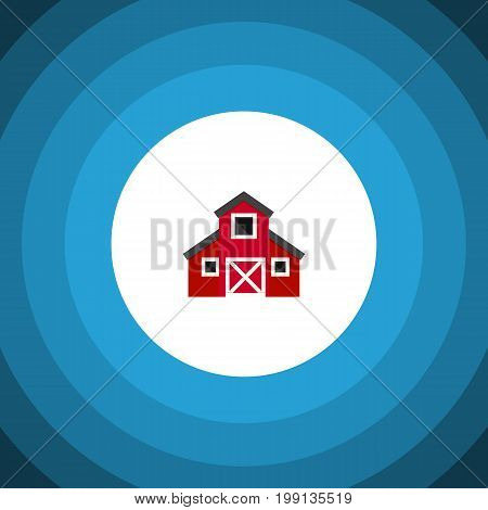 Storehouse Vector Element Can Be Used For Greenhouse, Barn, Storehouse Design Concept.  Isolated Greenhouse Flat Icon.