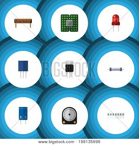 Flat Icon Device Set Of Recipient, Hdd, Memory And Other Vector Objects