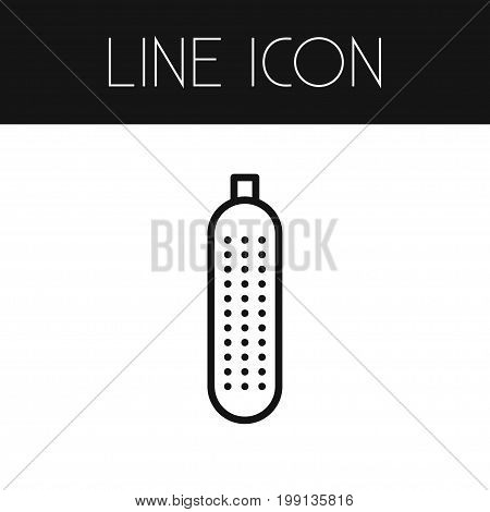 Salad Vector Element Can Be Used For Salad, Cucumber, Pickles Design Concept.  Isolated Cucumber Outline.