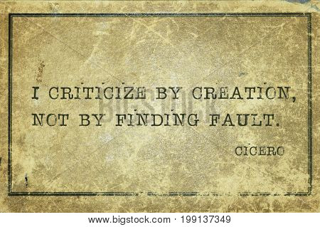 Finding Fault Cicero