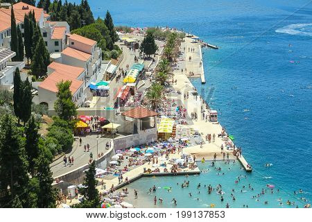 Waterfont And Beach In Neum