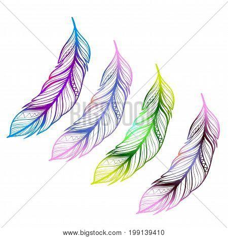Indian feathers - protective amulet. Beautiful tattoo idea