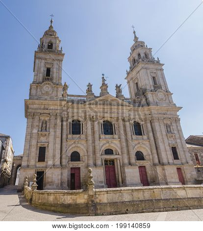Cathedral Of Saint Mary In Lugo Galicia Spain