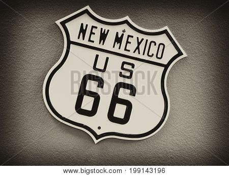 Route 66 Sign In New Mexico.