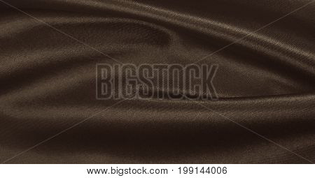Smooth Elegant Brown Silk Or Satin Texture As Abstract Background. Luxurious Background Design Wallp