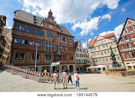 Town Hall Of Tubingen, Baden-wurttemberg, Germany