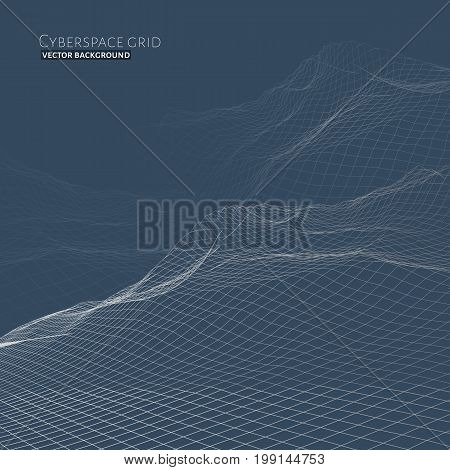 Abstract Vector Wireframe Landscape Background