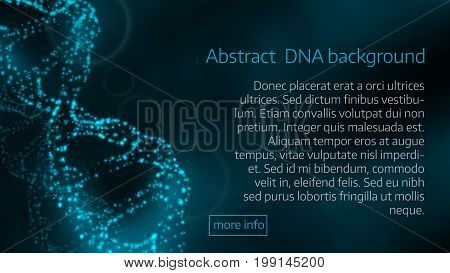 Vector Illustration Of Abstract  Dna Background