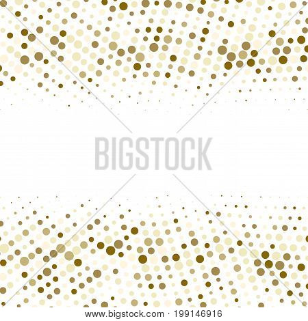 Vector Gold  Dotes Background.