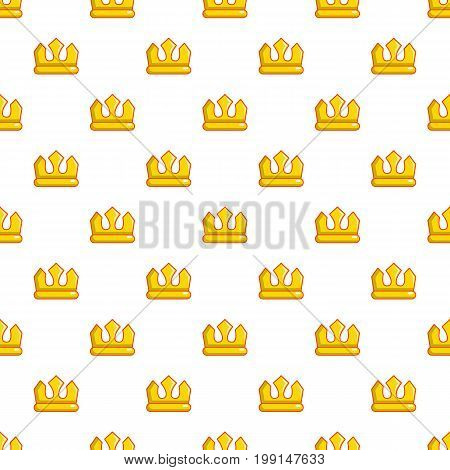 Viscount crown pattern in cartoon style. Seamless pattern vector illustration