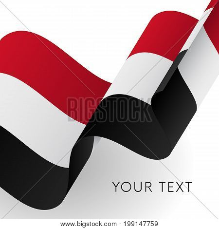 Yemen flag. Patriotic design. Waving flag. Vector illustration.
