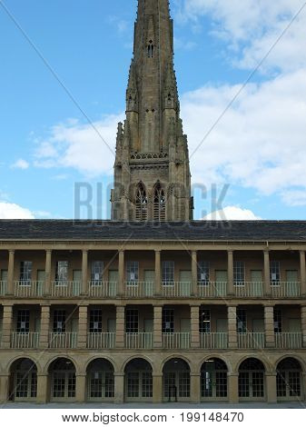 the piece hall in halifax a former eighteenth century cloth hall and public square