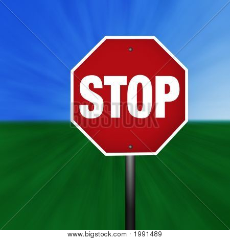 Graphic Stop Sign