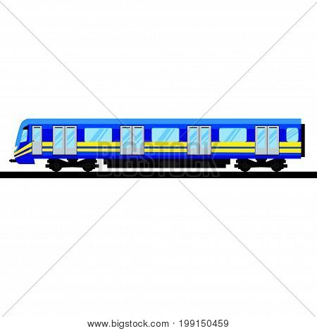 Underground train. Isolated Subway transport. Metro Train on Line. Vector illustration