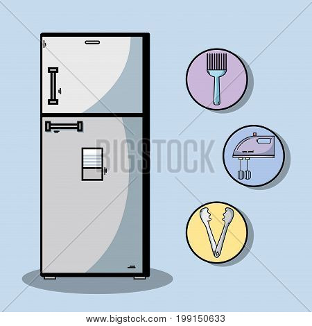 technology machines to used in the kitchen vector illustration