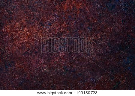 Abstract brown painted  texture background. Rusty metal background