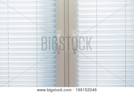 Home Interior Window Blinds. White Textile Blinds