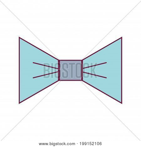nice bowtie style decoration design vector illustration