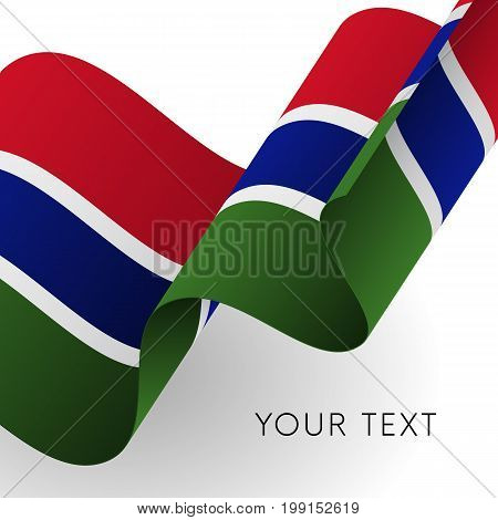 Gambia flag. Patriotic design. Waving flag. Vector illustration.