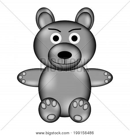 Bear sign icon on white background. Vector illustration.