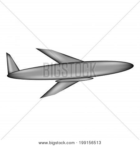 Plane sign icon on white background. Vector illustration.