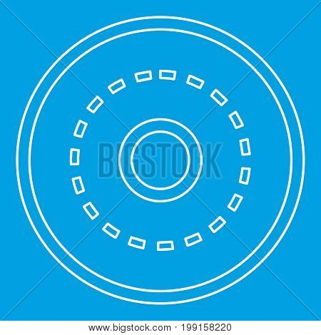 Circle road icon blue outline style isolated vector illustration. Thin line sign