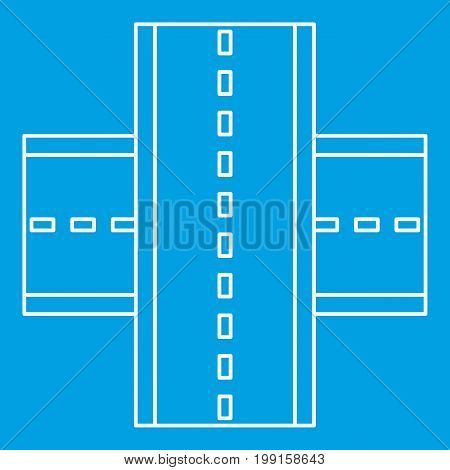 Multiple level highway icon blue outline style isolated vector illustration. Thin line sign