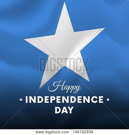 Banner or poster of Somalia independence day celebration. Waving flag. Vector illustration.