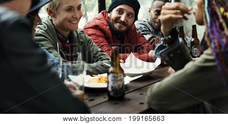Diversity People Hang Out Friendship Together