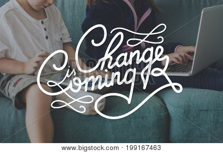 Change is Coming Opportunity Chance Words Graphic
