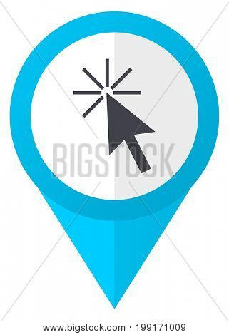 Click here blue pointer icon