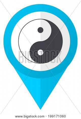 Ying yang blue pointer icon