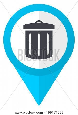 Recycle blue pointer icon